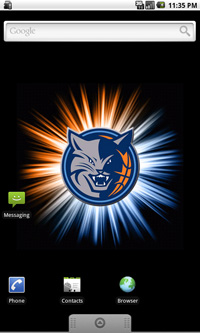 Charlotte Bobcats Logo Live Android Wallpaper