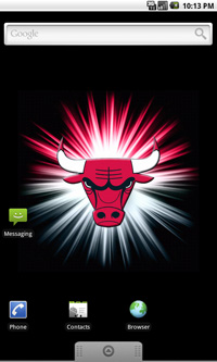 Chicago Bulls Logo Live Android Wallpaper