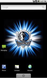 Dallas Mavericks Logo Live Android Wallpaper