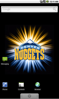 Denver Nuggets Logo Live Android Wallpaper