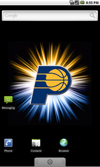 Indiana Pacers Logo Live Android Wallpaper
