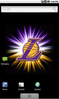 LA Lakers Logo Live Android Wallpaper