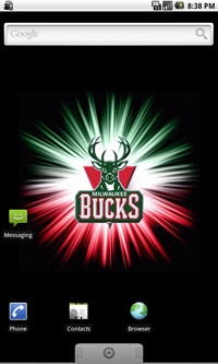 Milwaukee Bucks Logo Live Android Wallpaper