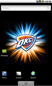 Oklahoma City Thunder Logo Live Android Wallpaper