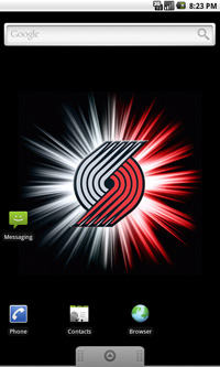 Portland Trail Blazers Logo Live Android Wallpaper