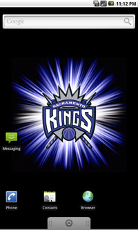 Sacramento Kings Logo Live Android Wallpaper