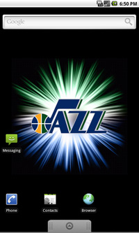 Utah Jazz Logo Live Android Wallpaper