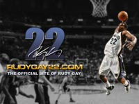 Rudy Gay Widescreen Wallpaper