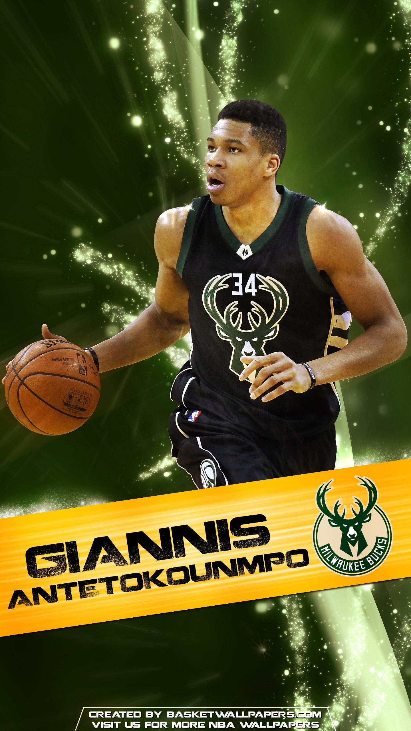 Giannis Antetokounmpo Milwaukee Bucks 2016 Mobile Wallpaper