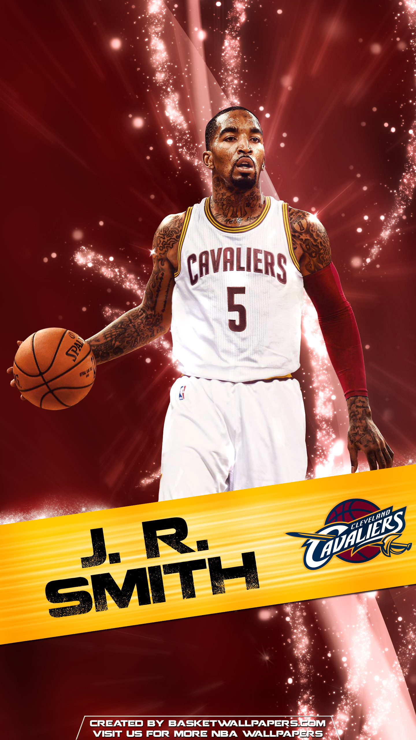 J R Smith Cleveland Cavaliers 2016 Mobile Wallpaper