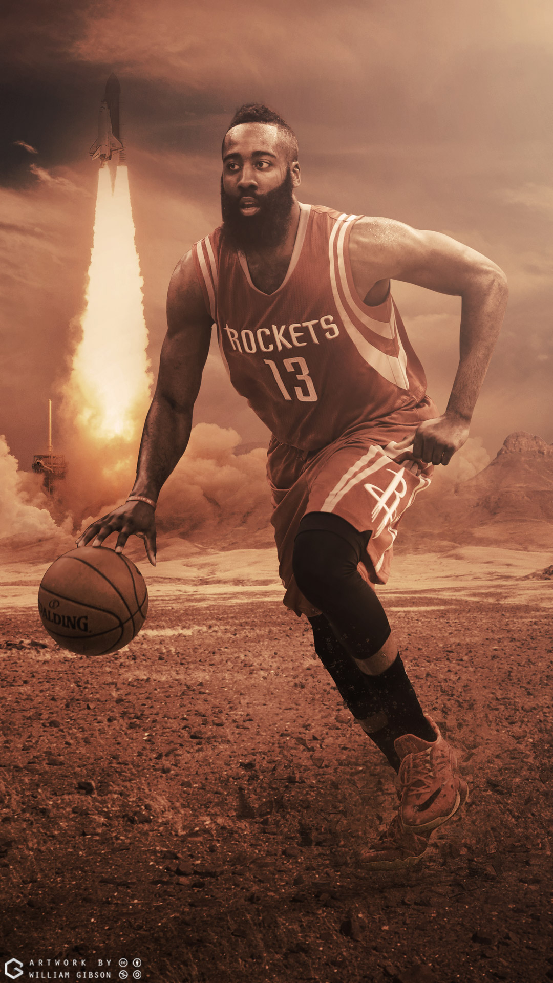 James Harden Rockets Mobile Wallpaper