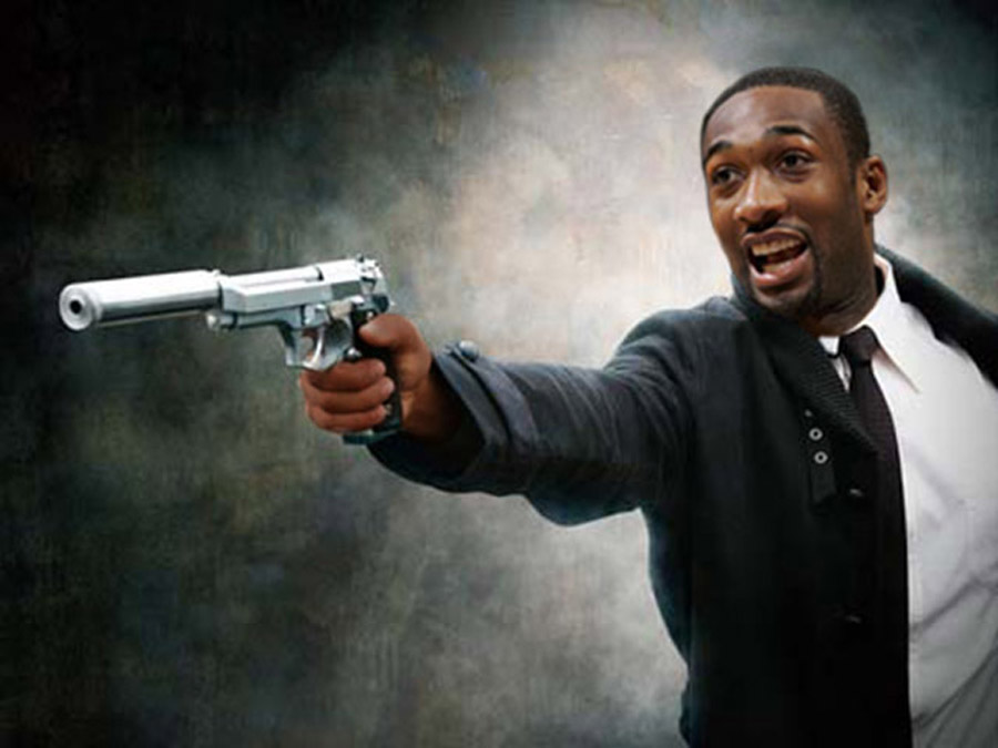 Gilbert Arenas With Gun Wallpaper