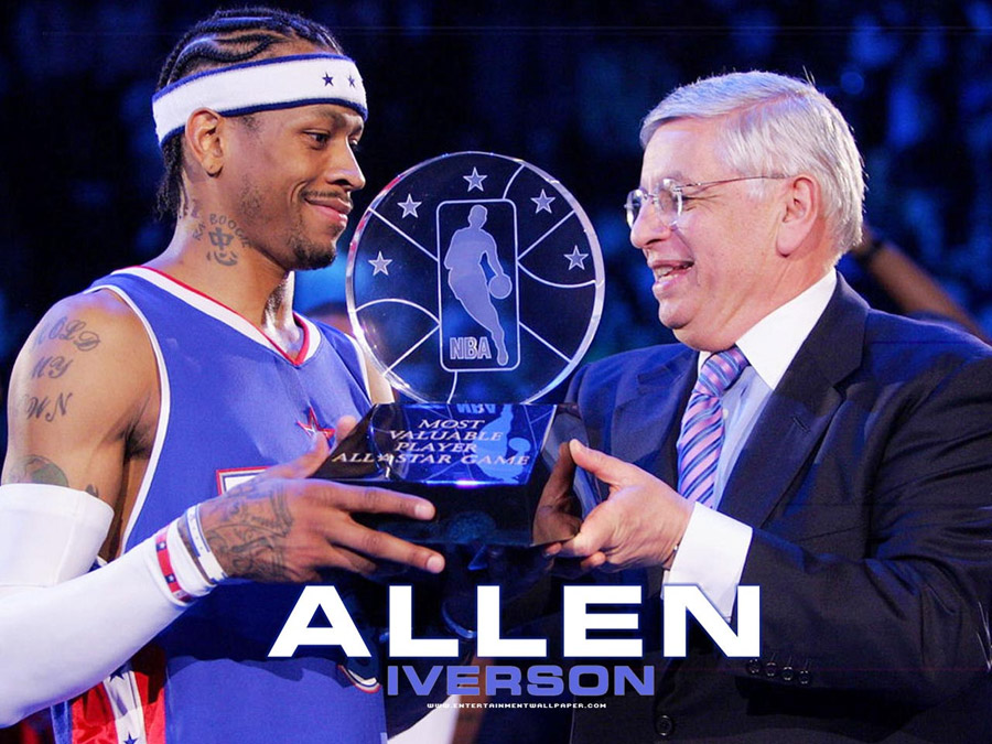Allen Iverson, Philadelphia 76'ers baseball . | THOSE ...