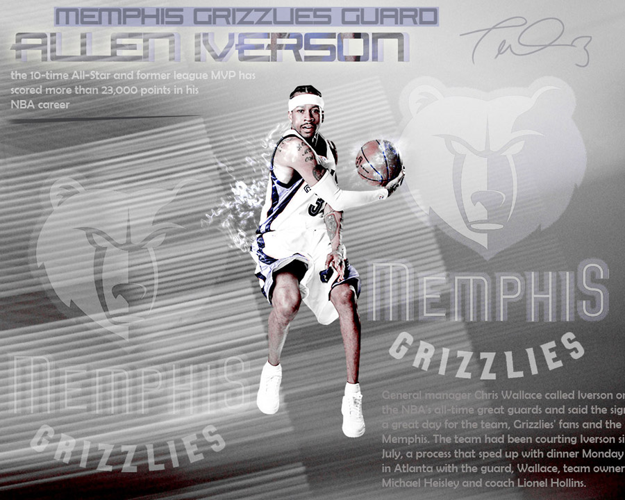 Allen Iverson Grizzlies Wallpaper
