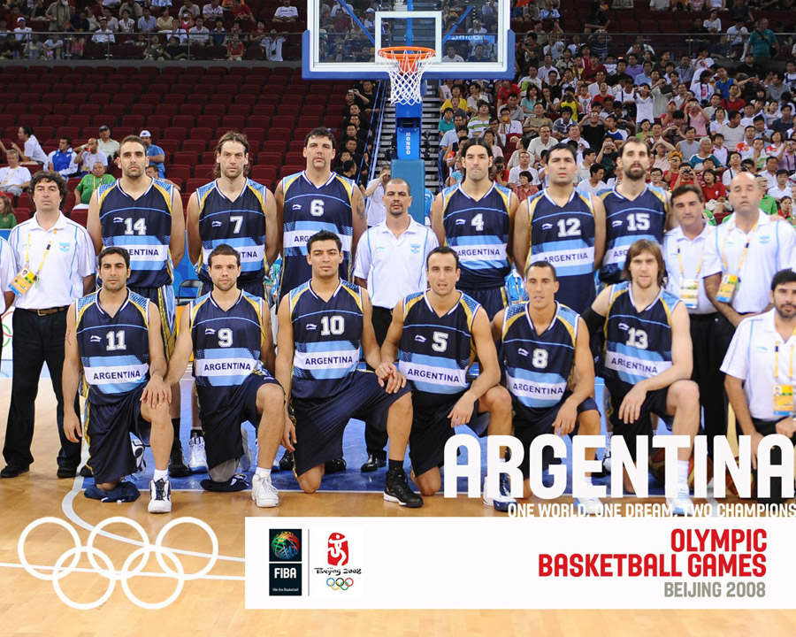 Argentina Basketball Olympic Team 2008 Wallpaper