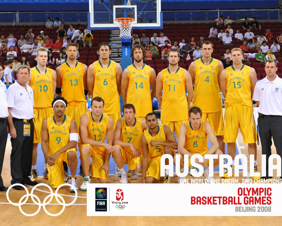 Australia Basketball Olympic Team 2008 Wallpaper
