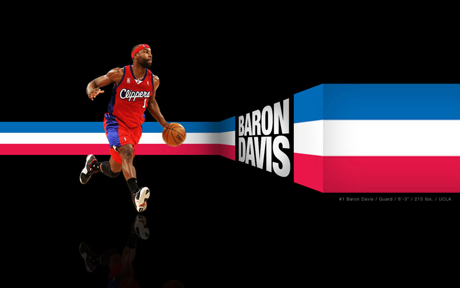 Baron Davis LA Clippers Widescreen Wallpaper