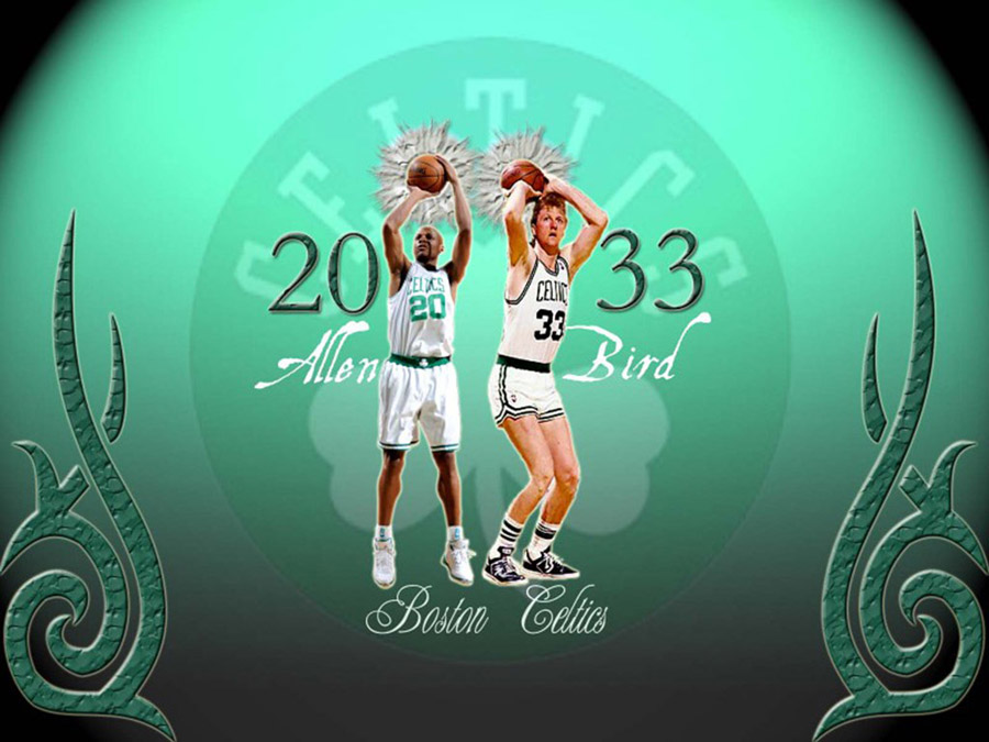Larry Bird and Ray Allen Celtics Wallpaper