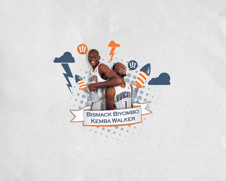 Bismack Biyombo and Kemba Walker Bobcats Wallpaper