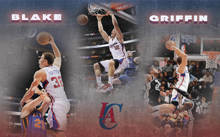 Blake Griffin Clippers Dunks Widescreen Wallpaper