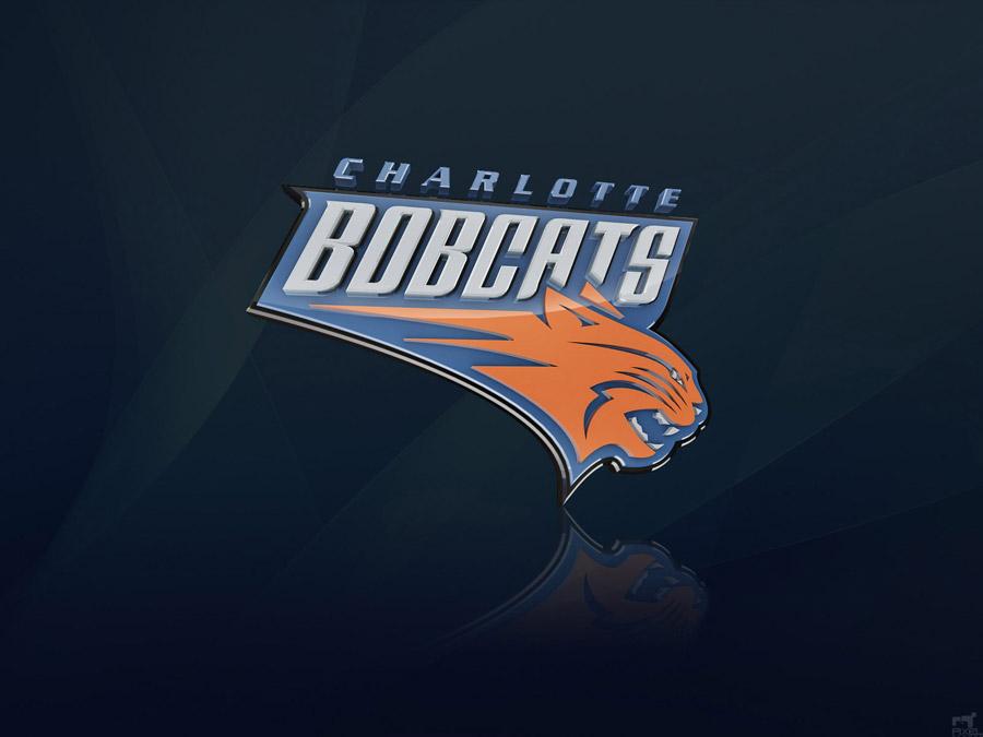Charlotte Bobcats 3D Logo Wallpaper