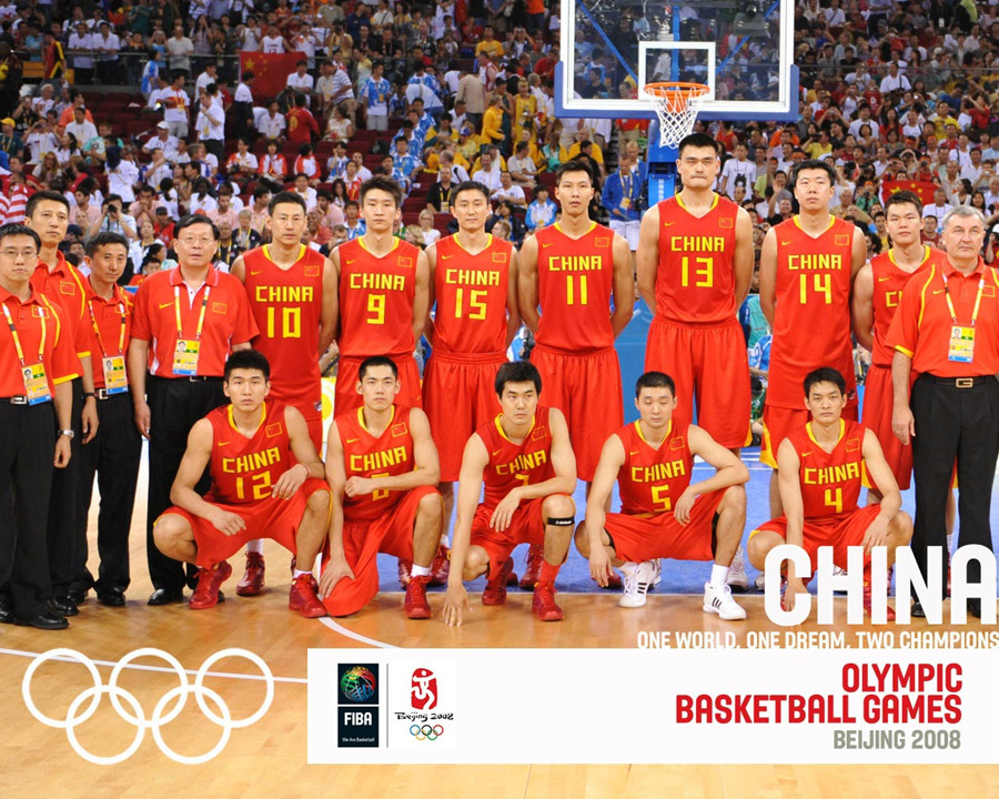 China Basketball Olympic Team 2008 Wallpaper