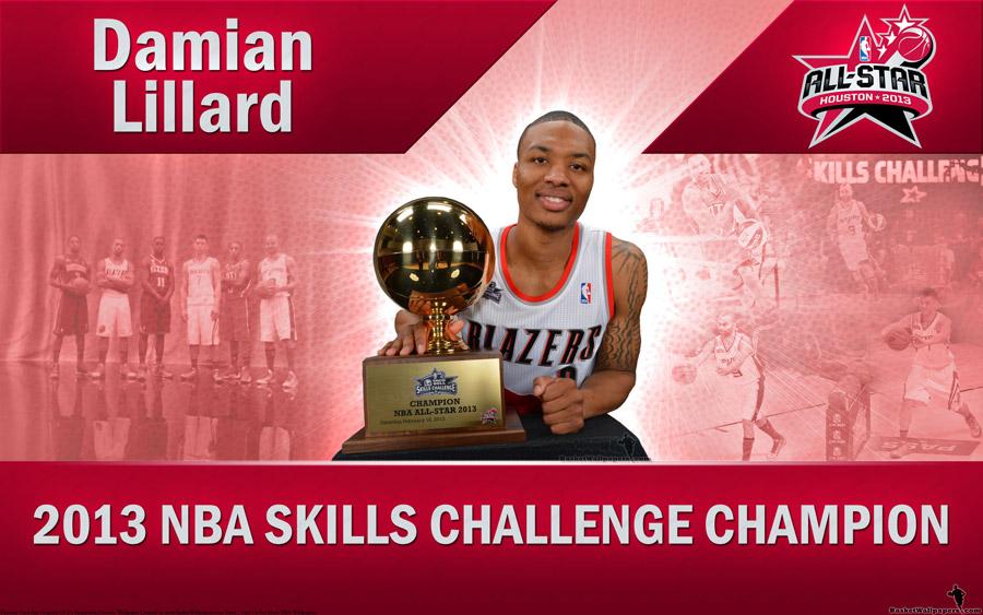 Damian Lillard 2013 NBA Skills Challenge Winner 2560x1600 Wallpaper