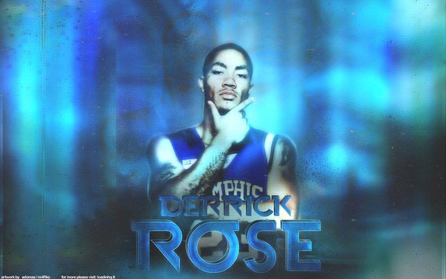 Derrick Rose Memphis Tigers Widescreen Wallpaper