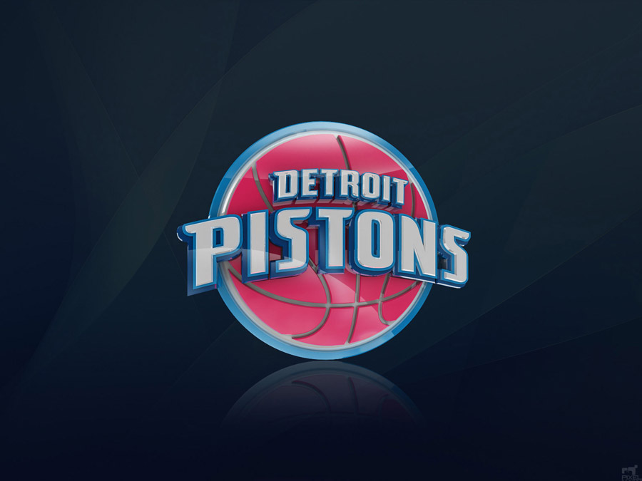 Detroit Pistons 3D Logo Wallpaper