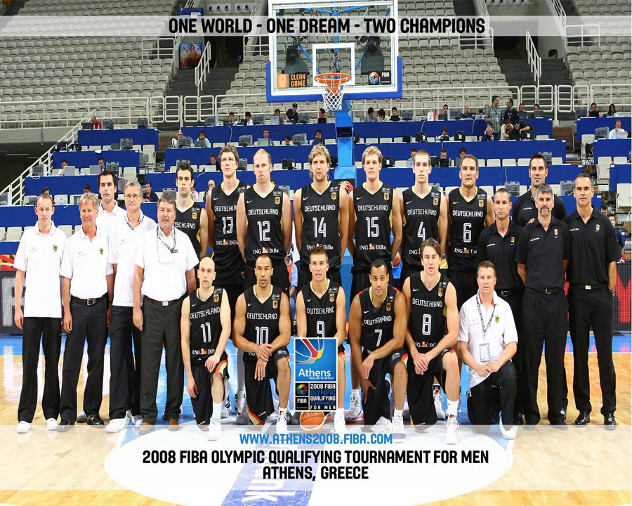 Germany Basketball Olympic Qualifications Team 2008 Wallpaper