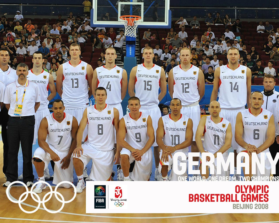 Germany Basketball Olympic Team 2008 Wallpaper