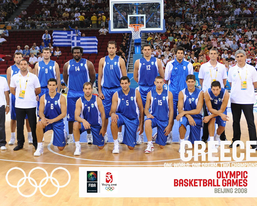 Greece Basketball Olympic Team 2008 Wallpaper