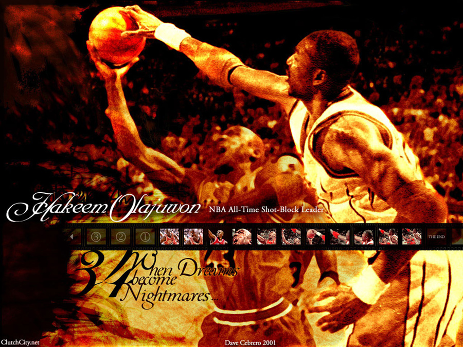 Hakeem Olajuwon Blocks Jordan Wallpaper