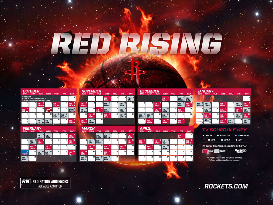 Houston Rockets 2010-11 Schedule Wallpaper