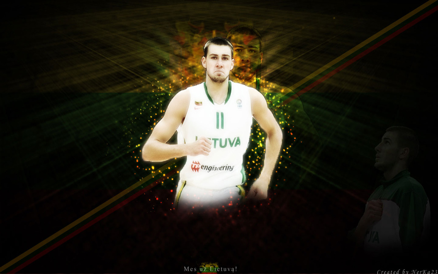 Jonas Valanciunas Lithuania Team Wallpaper
