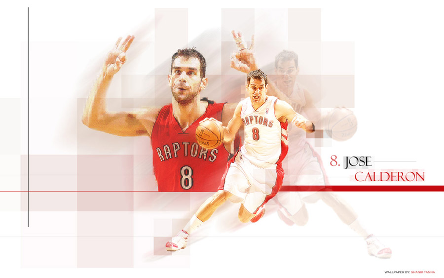 Jose Calderon Raptors Widescreen Wallpaper