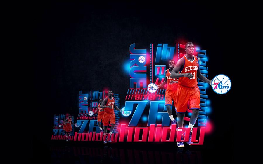 Jrue Holiday Philadelphia 76ers Widescreen Wallpaper