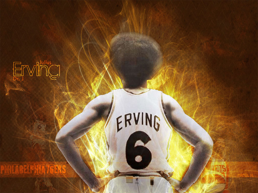 Julius Erving 76ers Wallpaper