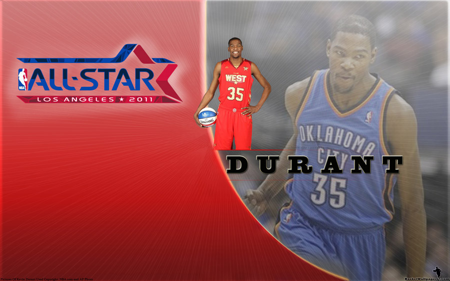 Kevin Durant All-Star 2011 Widescreen Wallpaper