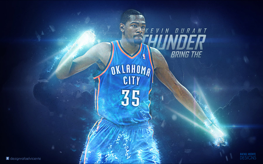 Kevin Durant Bring The Thunder 2560x1600 Wallpaper