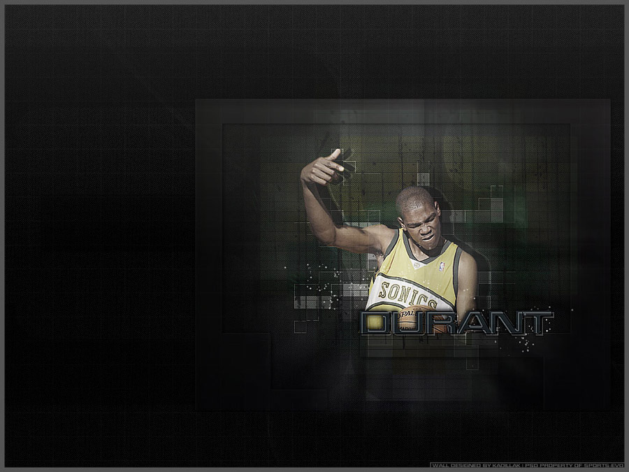 Kevin Durant Sonics Flashback Wallpaper