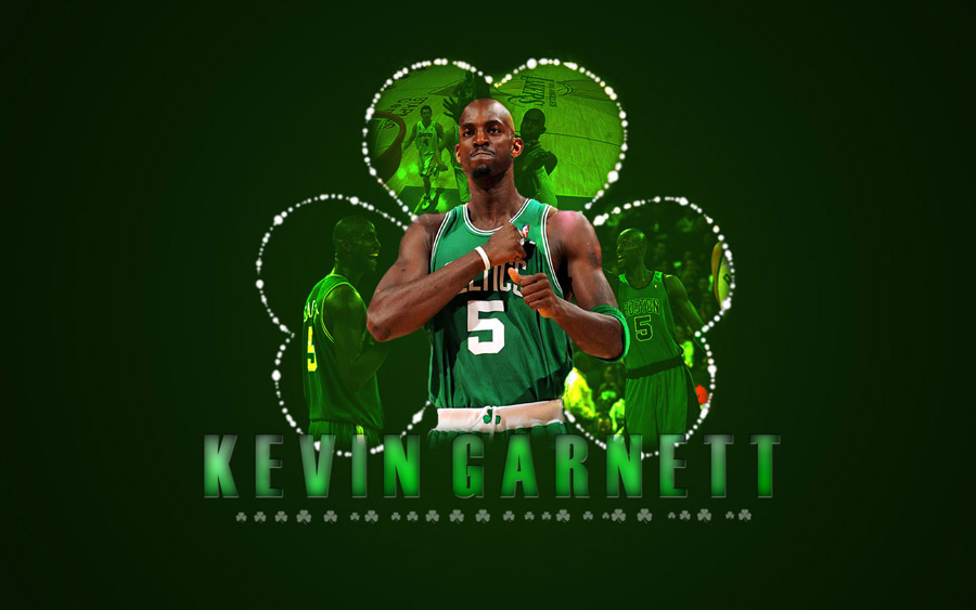 Kevin Garnett 2010 Celtics Widescreen Wallpaper