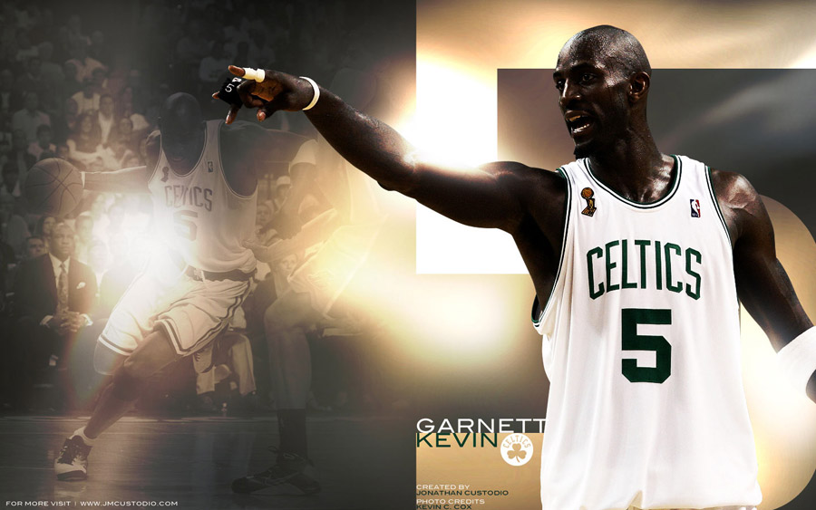 Kevin Garnett Celtics N. 5 Widescreen Wallpaper