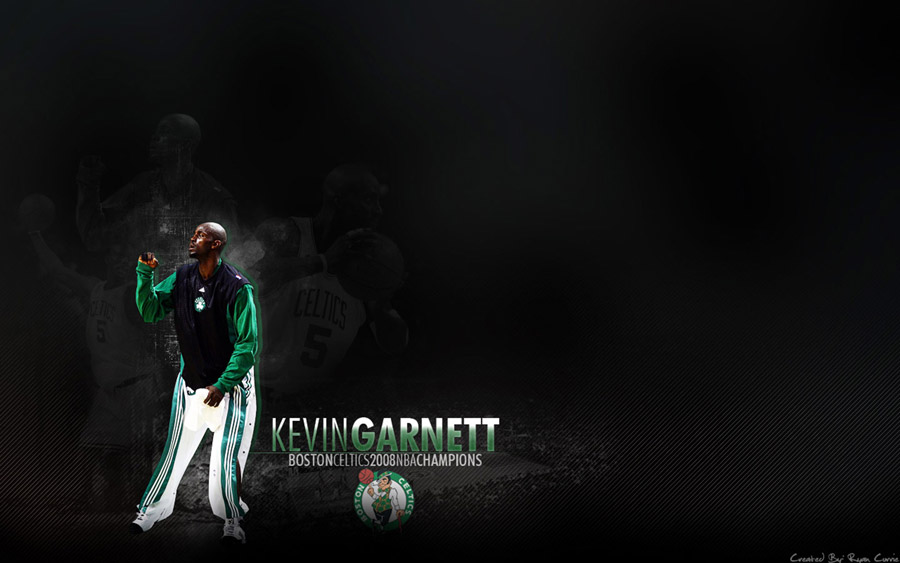 Kevin Garnett Celtics Widescreen Wallpaper
