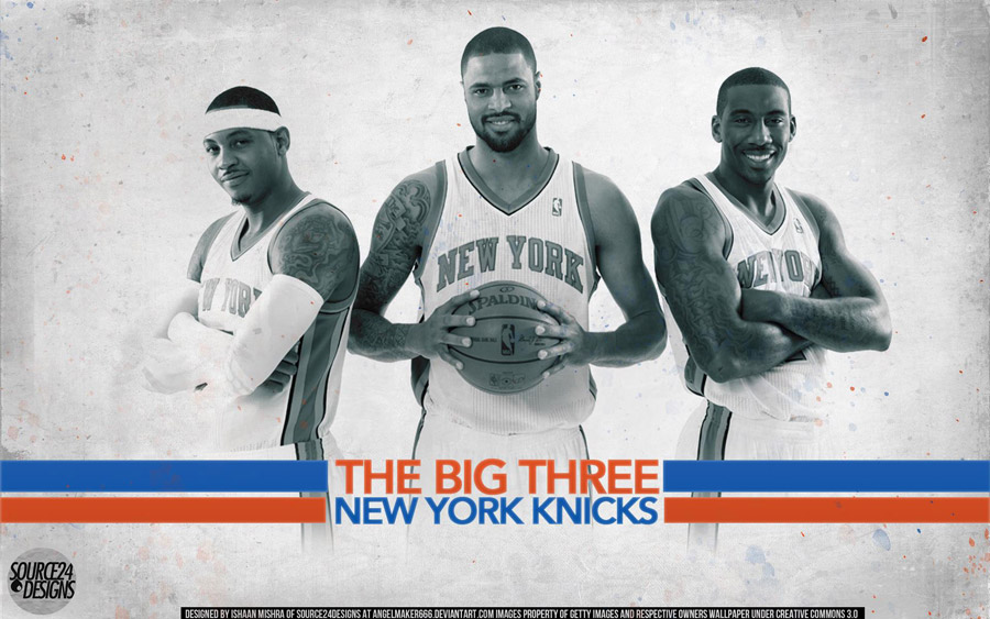 Knicks 2012 Big 3 1920x1200 Wallpaper