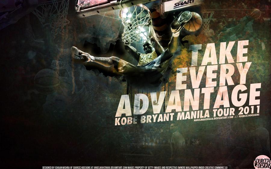 Kobe Bryant Manila Dunk Widescreen Wallpaper