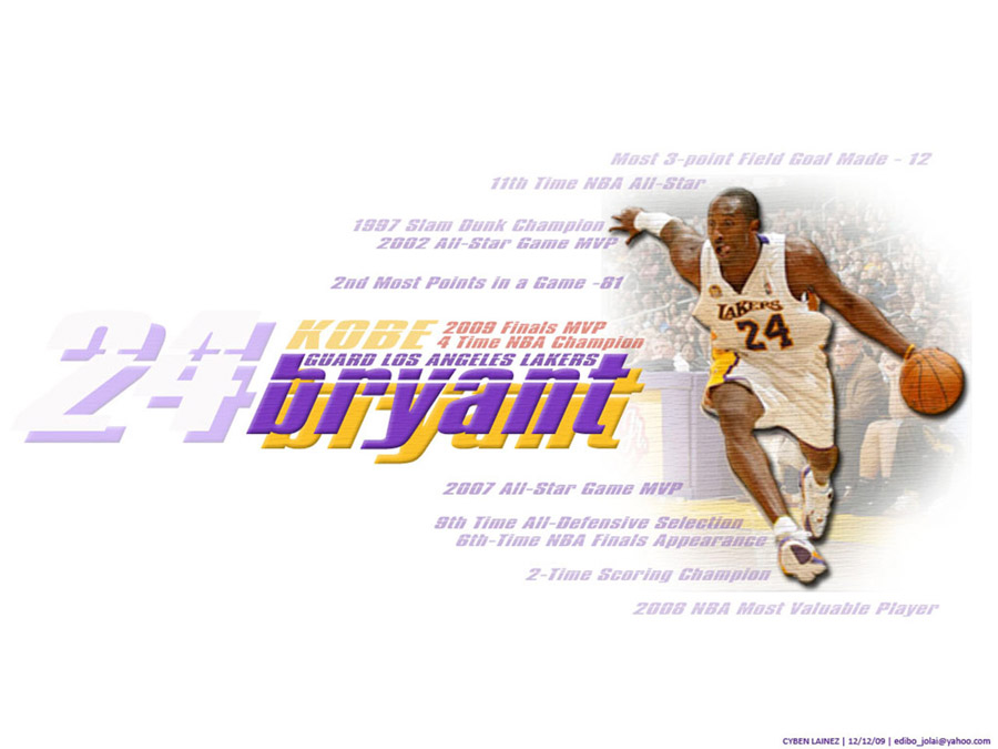 Kobe Bryant Career Achievements Wallpaper