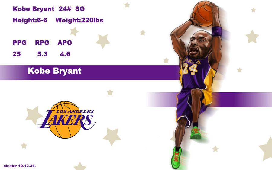 Kobe Bryant Drawn Widescreen Wallpaper