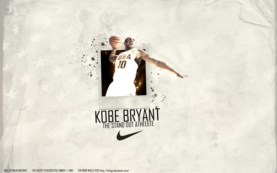 Kobe Bryant Dream Team Widescreen Wallpaper