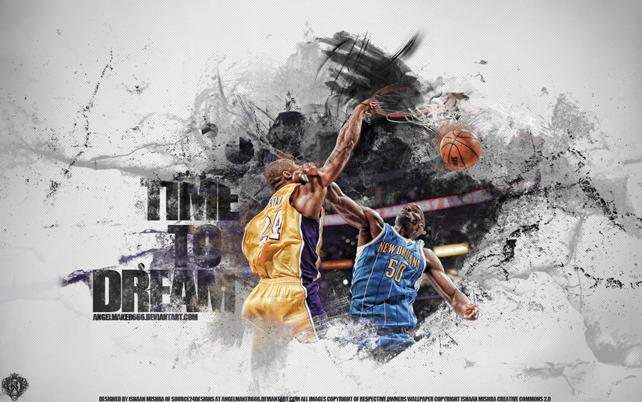 Kobe Bryant Dunk Over Okafor Widescreen Wallpaper